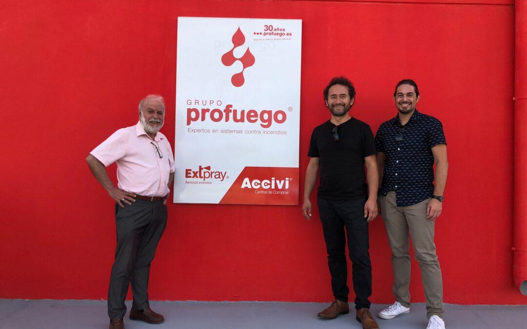 Visita de Multi Fire Chile a nuestras instalaciones Profuego en España.